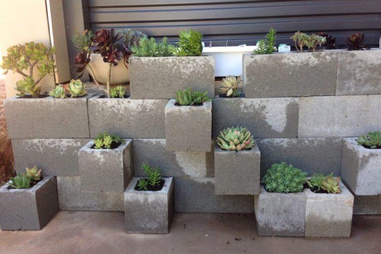 cinder block vegetable garden