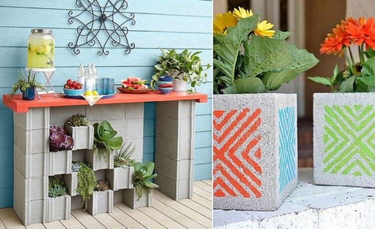 Enchantingly Beautiful Cinder Block Ideas that You Can Use for Your Garden 5