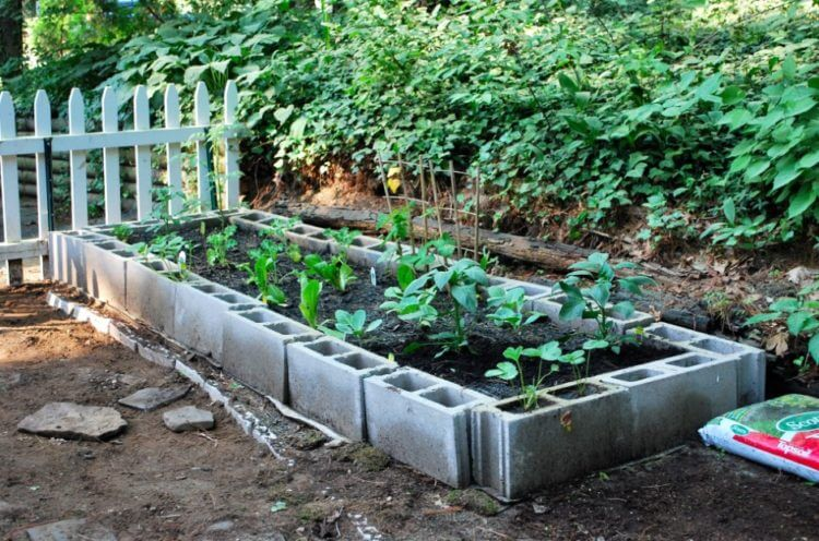 Get enchanting atmosphere with awesome cinder block garden for The block garden designs