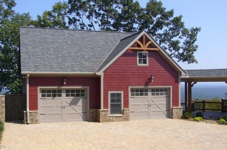 40 best detached garage model for your wonderful house for Detached garage pool house