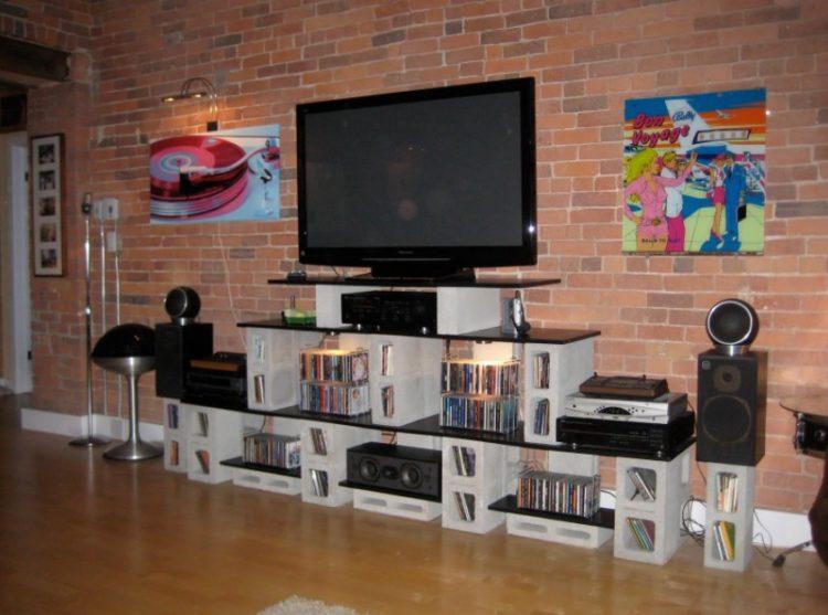 DIY Rustic Entertainment Center