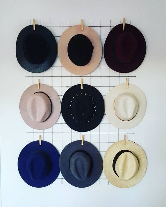 'Hat rack ideas design' from the web at 'https://theskunkpot.com/wp-content/uploads/2017/05/hat-rack-ideas-wire.jpg'