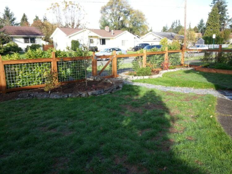 Hog Wire Fence installation