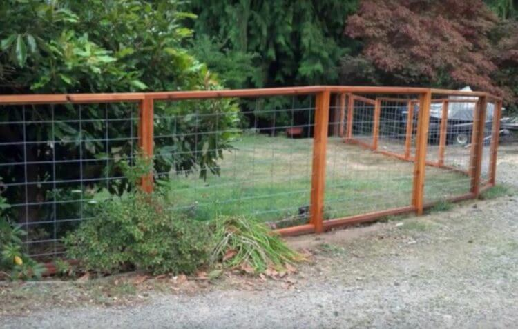 diy Hog Wire Fence