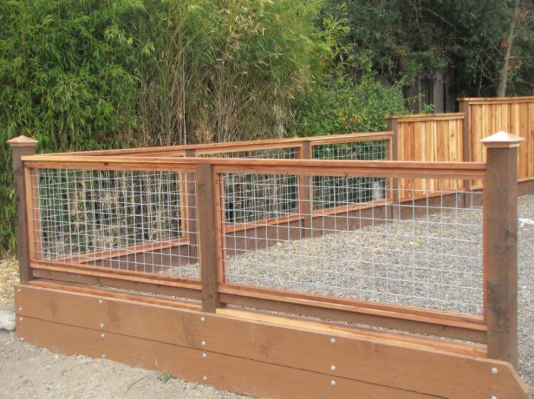 wood framed Hog Wire Fence