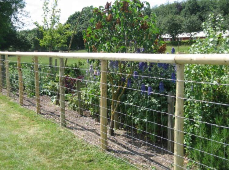 framed Hog Wire Fence