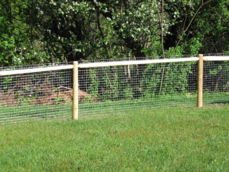 Hog Wire Fence installation