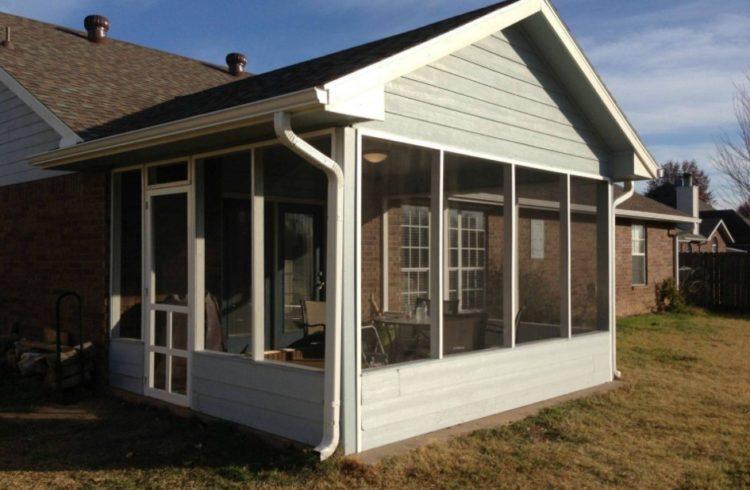 small screened in porch