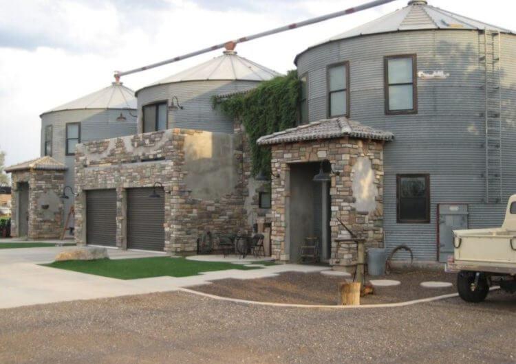 triple grain bin house design