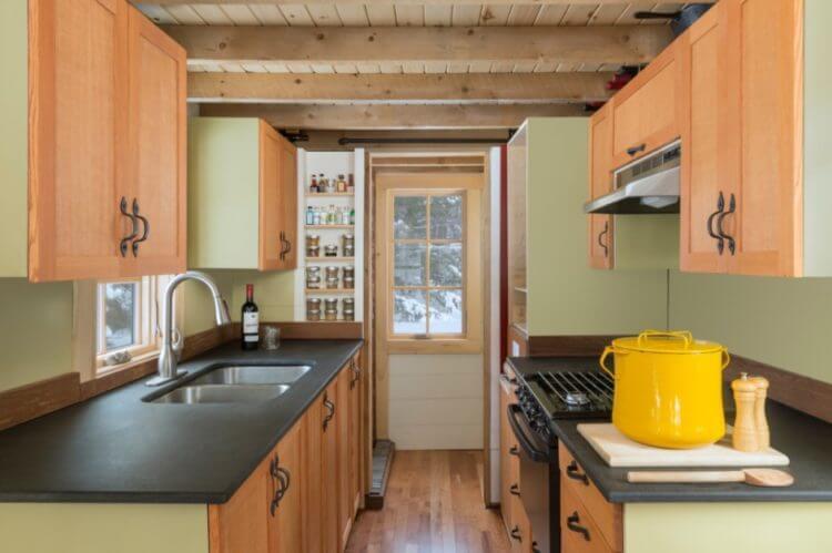 tiny house kitchen storage