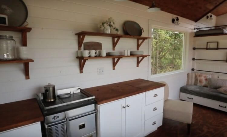 tiny house kitchen counter depth