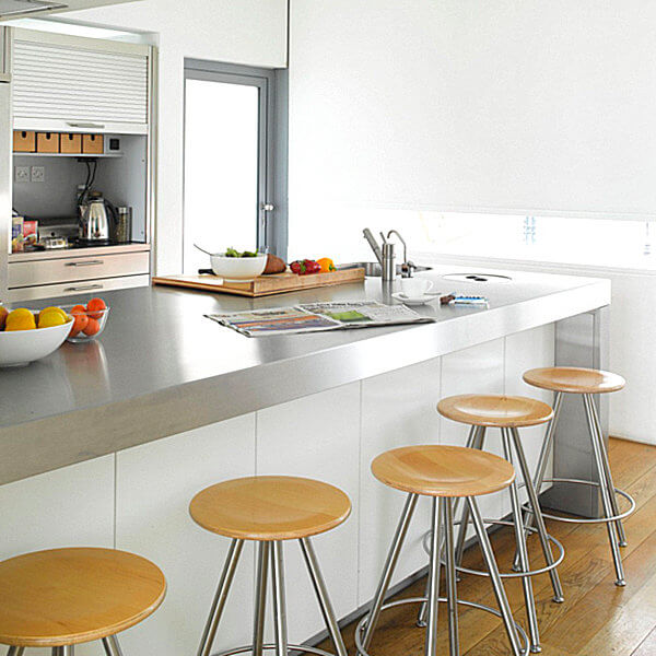 15 Amazing Stainless Steel Countertop Ideas to Jazz Up Your Kitchen 4