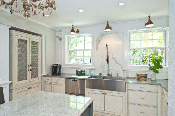 Perfect Marble Kitchen Island With Stainless Countertops Ideas
