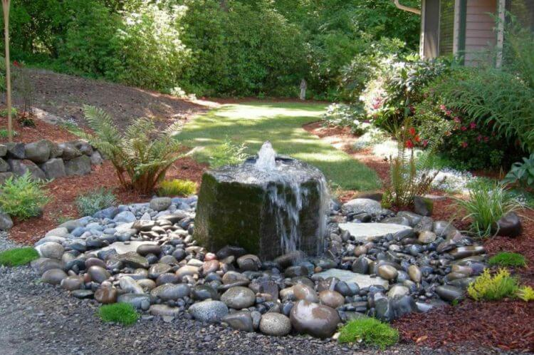 Small Water Garden Needs No Electricity Just Place Pots: 40 Backyard Wall Fountains Ideas