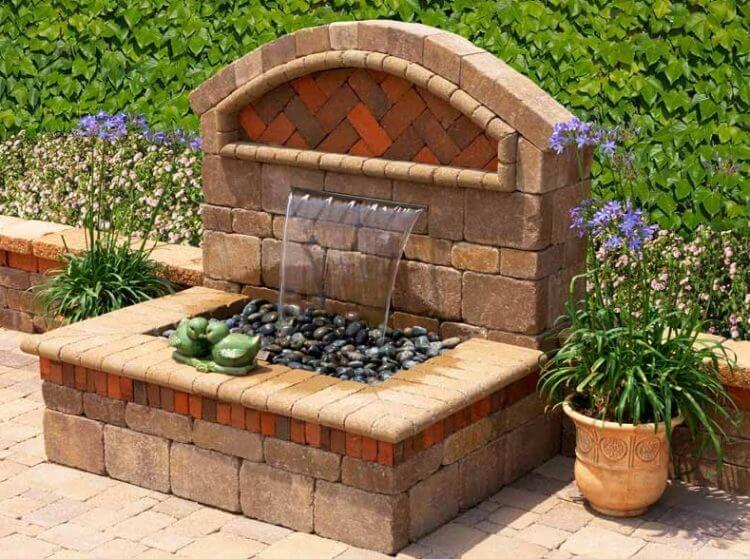 21 Backyard Wall Fountain Ideas to Wow Your Visitors - TSP ... on Backyard Feature Walls id=38032