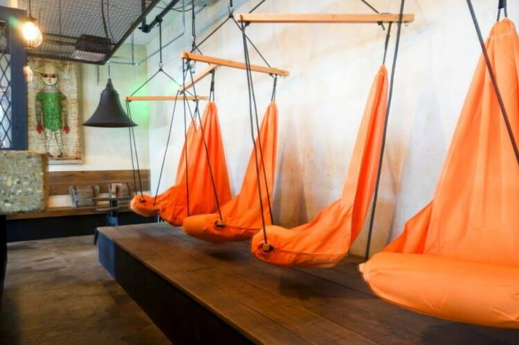 cool orange hammock for little kids 21 hammock design ideas add cozy atmosphere to your home   tsp      rh   theskunkpot