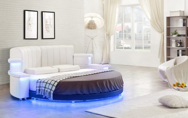 10 modern classic round beds design for exciting bedroom area for Bedroom designs round beds