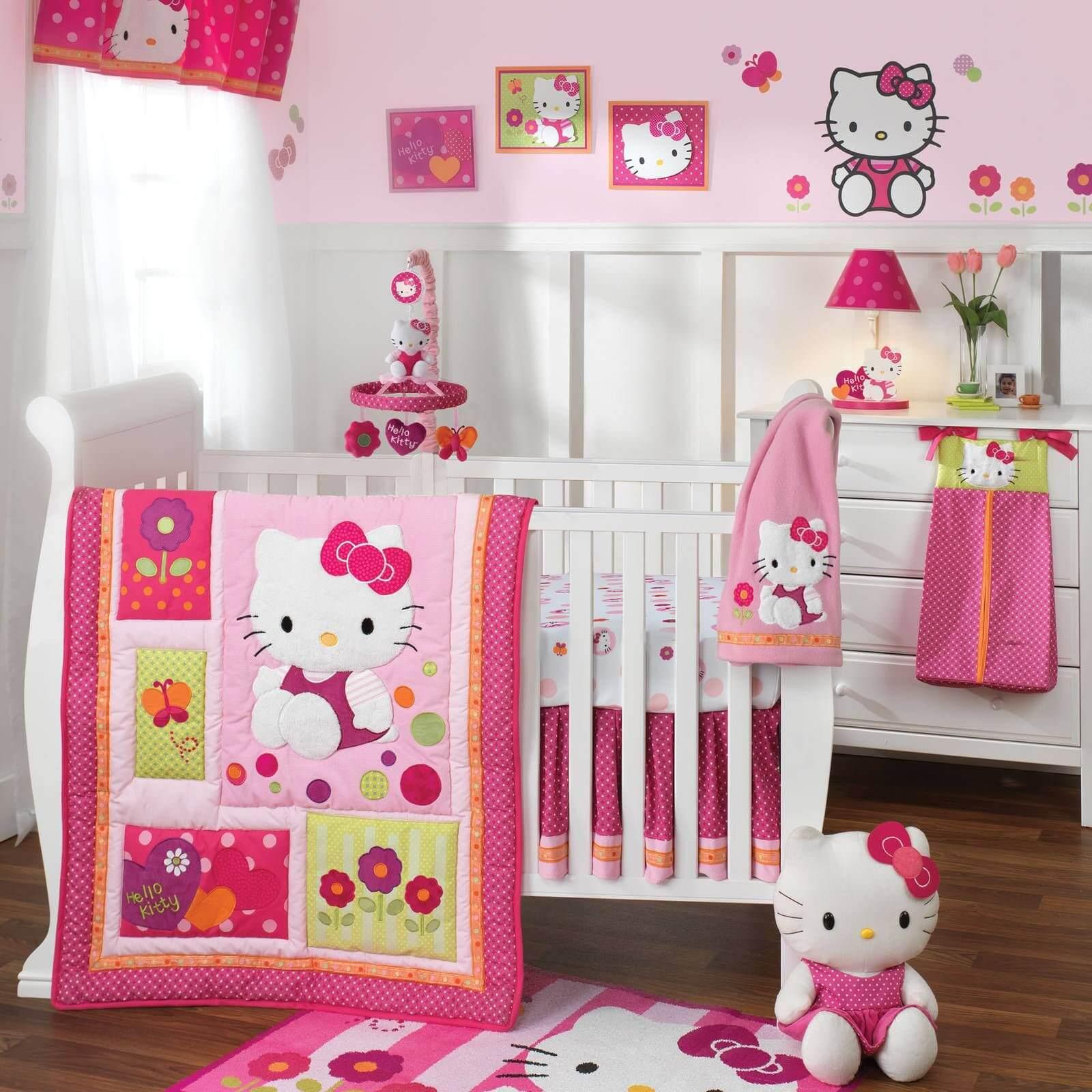 Hello Kitty Bedroom Idea for Baby Girl