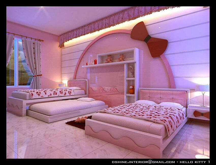 Hello Kitty Bedroom for Adult Girls