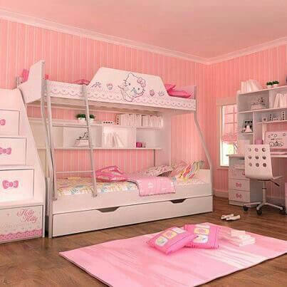Hello Kitty Bunk Beds Decoration