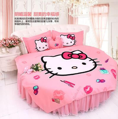 Hello Kitty Rounded Bed Decoration