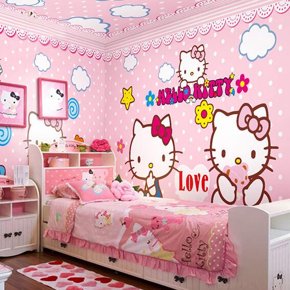 Hello Kitty Wall Bedroom Sticker