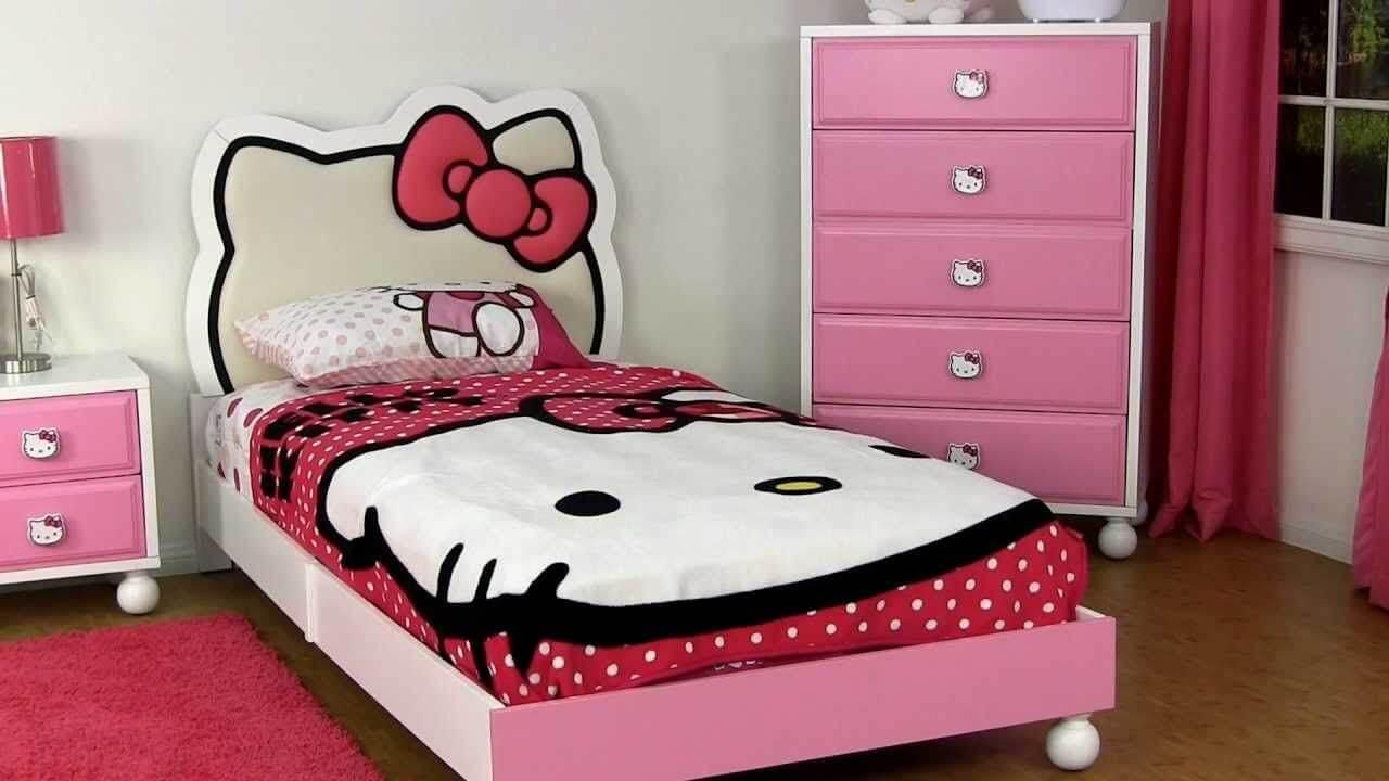 Single Bed Hello Kitty Bedroom Decor