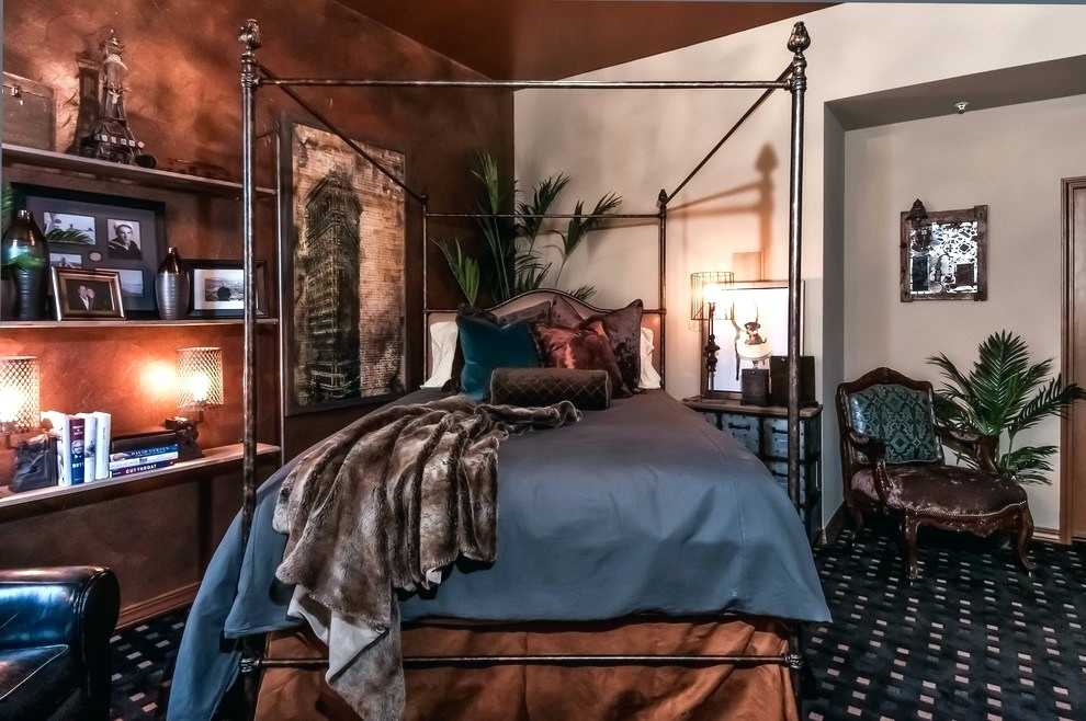 Old Fashion Four Poster Steampunk Bedroom