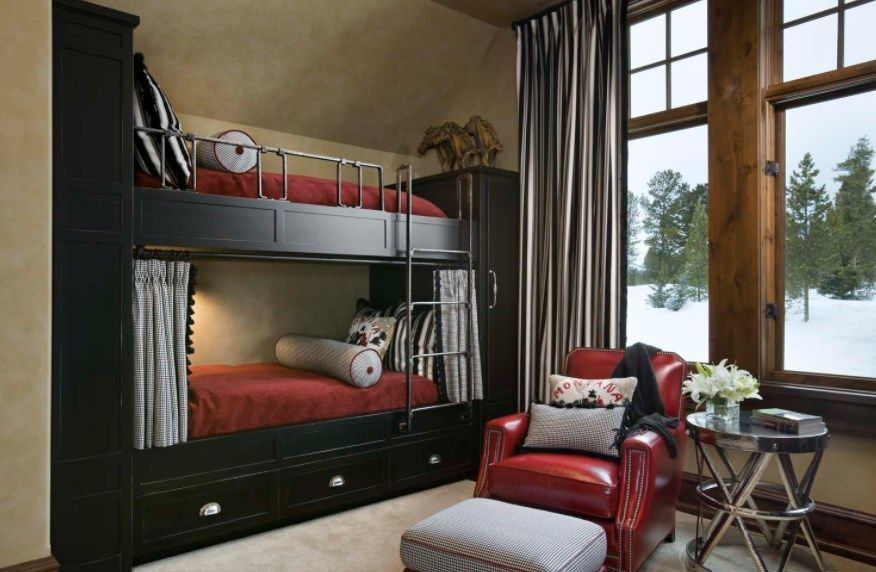 Steampunk Bunk Bedroom with Metal Frame