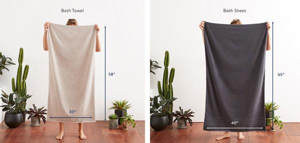 bath sheet and bath towel size difference