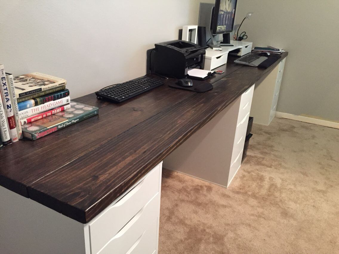 Computer Desk with Two Benches