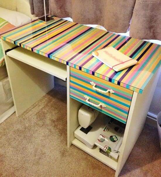 DIY Computer Desk With Chic Cover