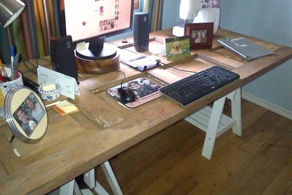 DIY Computer Desk from an Old Door