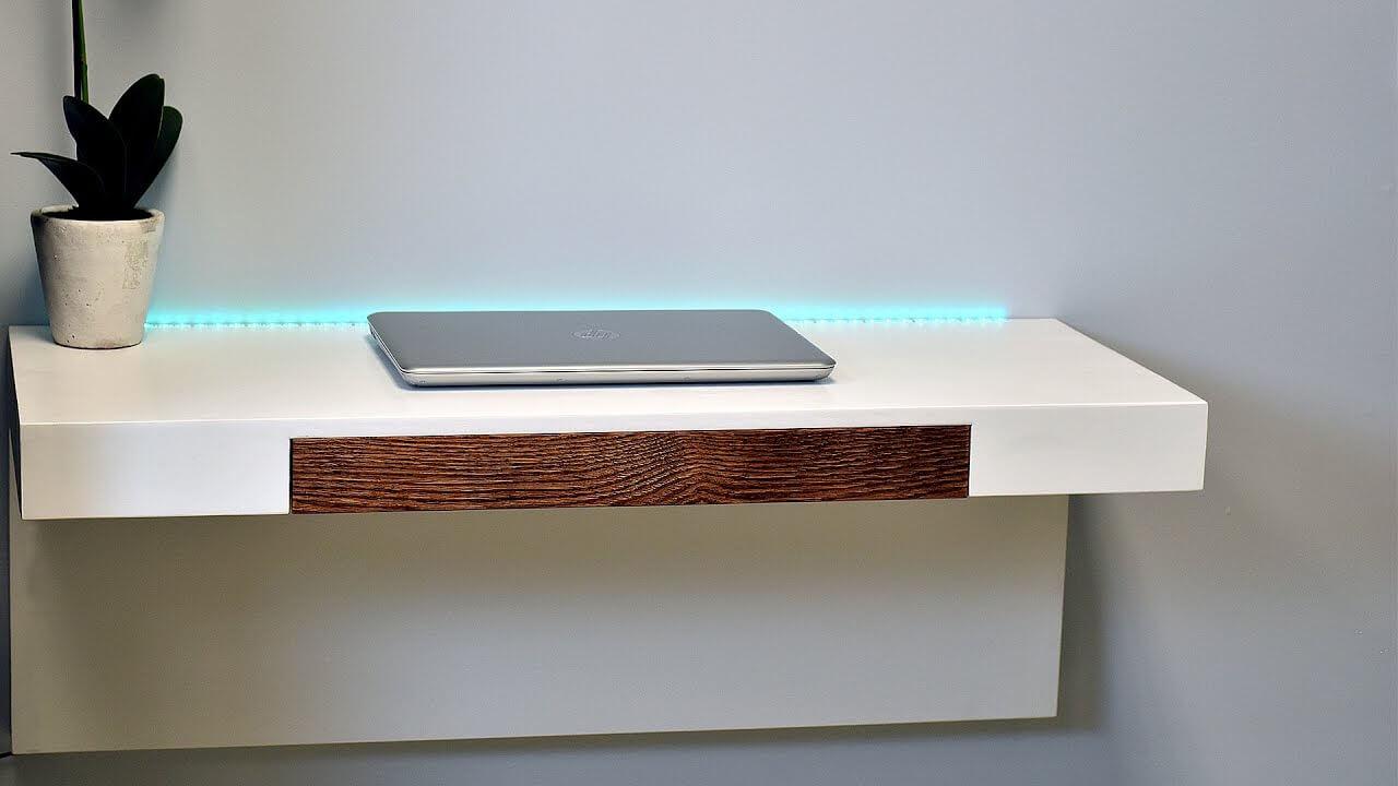 DIY Floating Computer Desk