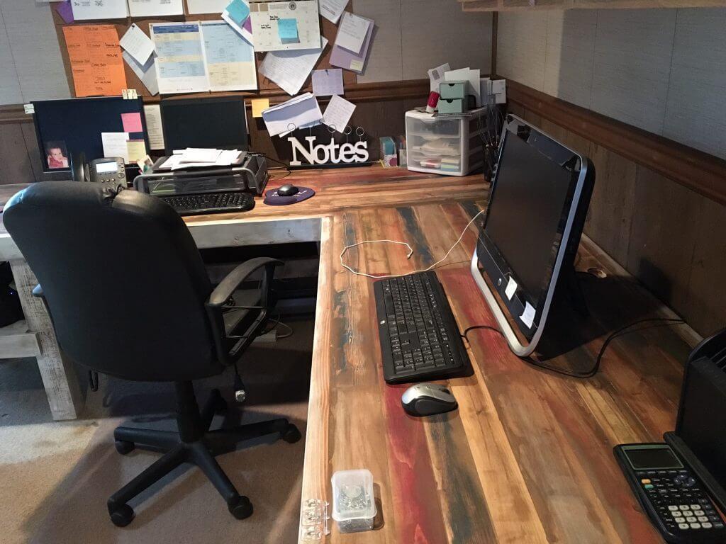 DIY L-Shaped Computer Desk