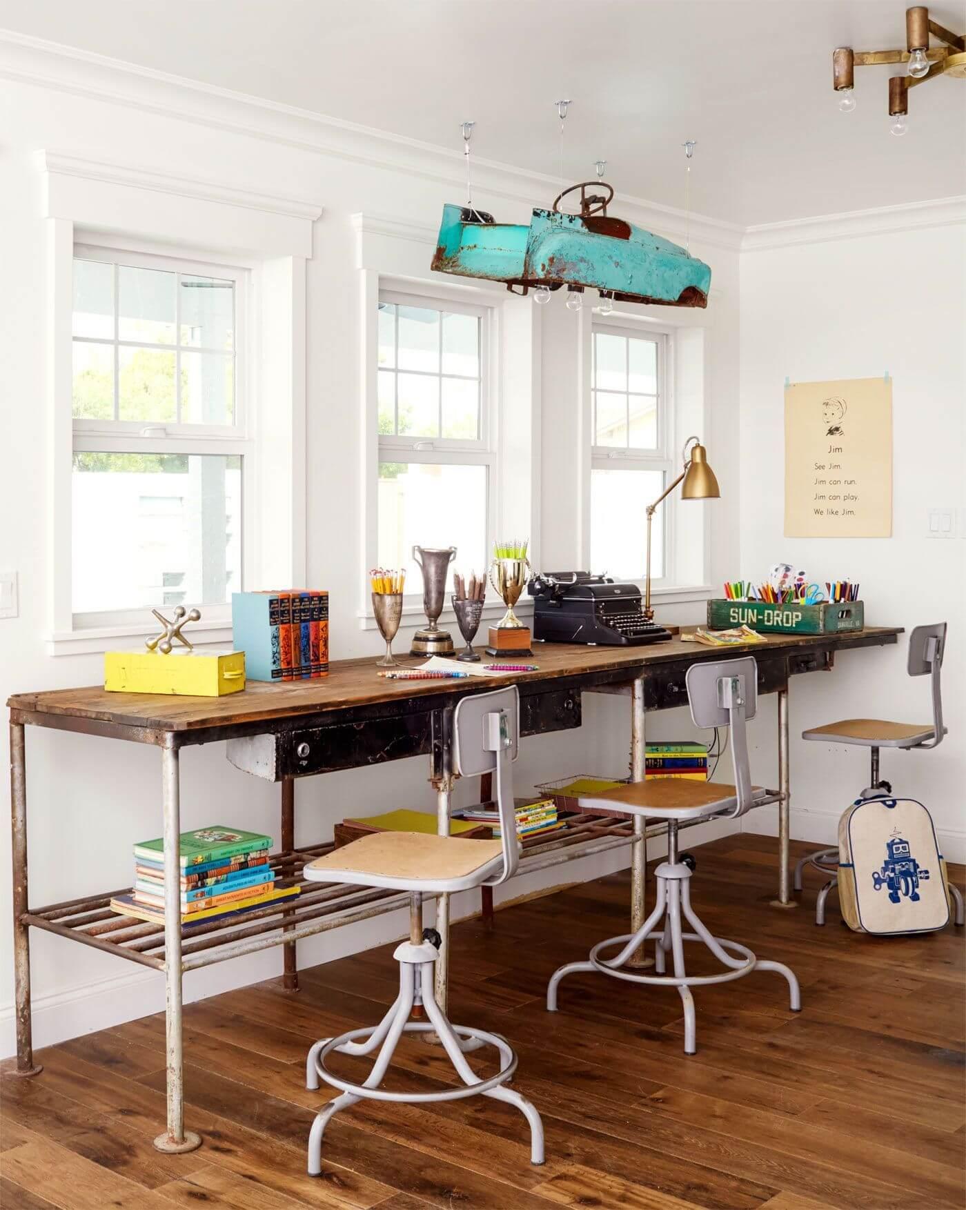 DIY Triple Office Desk