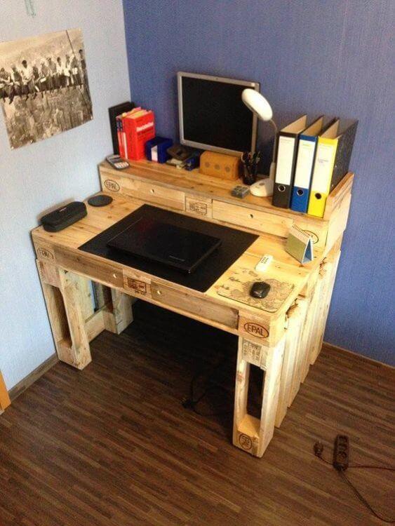 Double Level Pallet Desk