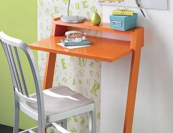 Minimalist Orange Computer Desk