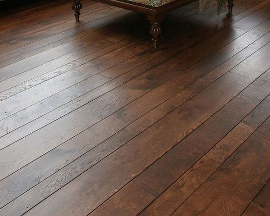 dark wood floor plank width